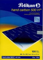 PELIKAN 500H kézi indigó - kék - 10 ív/csomag