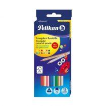 PELIKAN 12 db-os háromszögletű színes ceruza készlet