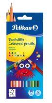 PELIKAN 12 db-os háromszögletű színes ceruza készlet - intenzív színek