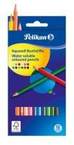 PELIKAN 12 db-os hatszögletű aquarell színes ceruza készlet