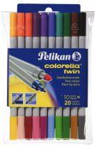 PELIKAN Colorella Twin kétvégű 10 db-os filctoll készlet (20 szín)