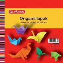 HERLITZ Origami lapok 20x20 cm / 20 ív