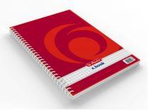 HERLITZ x.book 80 lapos, négyzethálós spirálfüzet - A/5