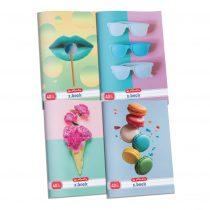 HERLITZ Pastel 3D UV lakkozott négyzethálós füzet A/4