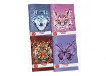 HERLITZ 27-32 Wild Animals négyzethálós füzet A/5