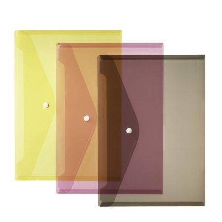 HERLITZ műanyag dokumentum tartó (boríték) - többszínű