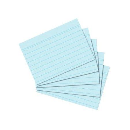 HERLITZ vonalas kartotékkártya A/7 kék