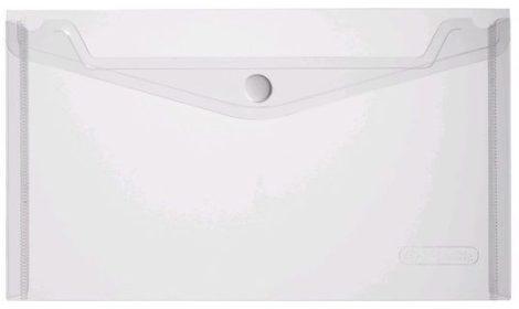 HERLITZ műanyag dokumentum tartó (boríték) - átlátszó, fehér - A/5