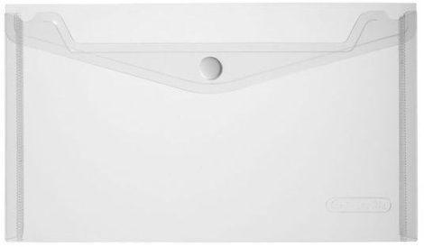 HERLITZ műanyag dokumentum tartó (boríték) - átlátszó, fehér - csekk méret