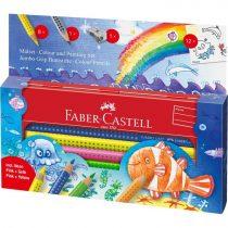 FABER-CASTELL Jumbo GRIP színesceruza készlet fém tolltartóban