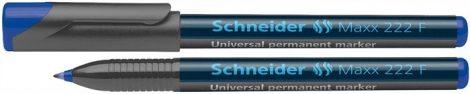 """SCHNEIDER """"Maxx 222 F"""" kék színű alkoholos marker / alkoholos filc"""