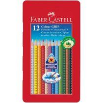 FABER-CASTELL GRIP 2001 12 db-os színes ceruza készlet fémdobozban