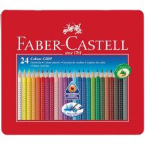 FABER-CASTELL GRIP 2001 24 db-os színes ceruza készlet fémdobozban