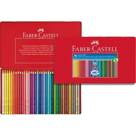 FABER-CASTELL GRIP 2001 36 db-os színes ceruza készlet fémdobozban