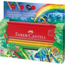 FABER-CASTELL 18 részes Dzsungel GRIP színesceruza készlet fém bőröndben