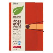 HERLITZ 12 rekeszes műanyag mappa A/4 méretű iratokhoz - narancssárga