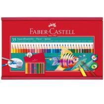 FABER-CASTELL 35 db-os színes aquarell ceruza készlet fa kazettában
