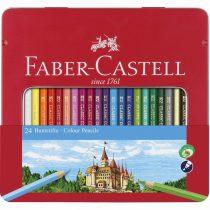 FABER-CASTELL 24 db-os színes ceruza készlet ablakos fémdobozban