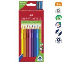 FABER-CASTELL 10 db-os jumbo színes ceruza készlet