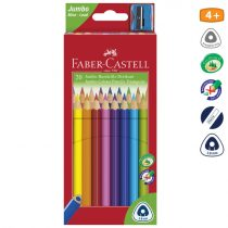 FABER-CASTELL 20 db-os jumbo színes ceruza készlet