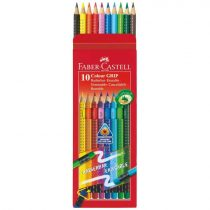 FABER-CASTELL 10 db-os GRIP színes ceruza készlet - radírral