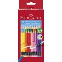 FABER-CASTELL 24 db-os színes ceruza készlet - radírral