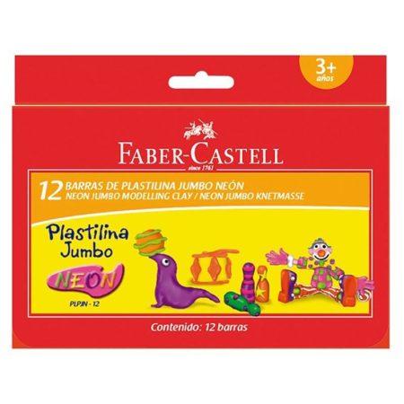 FABER-CASTELL 12 db-os JUMBO gyurma készlet - neon színek