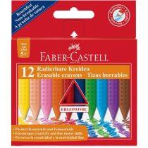 FABER-CASTELL 12 db-os törölhető GRIP zsírkréta