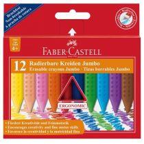 FABER-CASTELL 12 db-os törölhető Jumbo GRIP zsírkréta