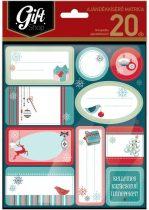 LIZZYCARD KMAT01 Karácsonyi ajándékkísérő matrica 20 db-os