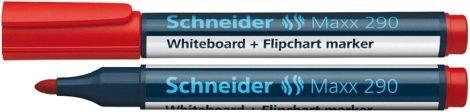 """SCHNEIDER """"Maxx 290"""" piros színű tábla- és flipchart marker / táblafilc"""