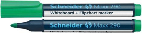 """SCHNEIDER """"Maxx 290"""" zöld színű tábla- és flipchart marker / táblafilc"""