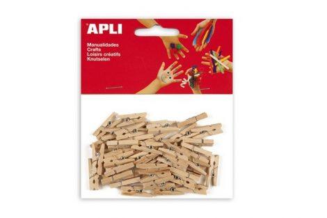 APLI fa csipesz 25 x 3 mm, natúr, 45 db