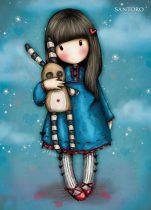 LIZZYCARD Santoro London Gorjuss 'Hush Little Bunny' LC/6 exkluzív üdvözlőlap