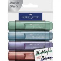 FABER-CASTELL 4 db-os szövegkiemelő készlet 2021-es kollekció metál színek