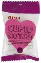 APLI szív alakú öntapadó jegyzettömb 200 lap 4 neon színben (4x50 lap)