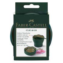 FABER-CASTELL Clic & Go ecsettál - sötétzöld