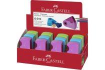 FABER-CASTELL dupla sleeve tartályos hegyező vegyes színekben