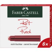 FABER-CASTELL tintapatron 6 db-os Standard piros