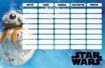 LIZZY CARD Star Wars 8 BB-8 órarend