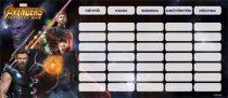 LIZZY CARD Avengers IW Infinity War mini órarend