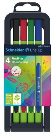 "SCHNEIDER ""Line-up"" 4 db-os tűfilc készlet"