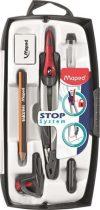 MAPED Stop System 7 részes körzőkészlet rögzíthető lábakkal