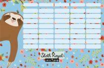 LIZZY CARD Lollipop Sloth Royal nagy órarend