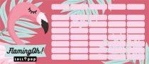 LIZZY CARD Lollipop Flaming-Oh mini órarend