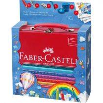 FABER-CASTELL 18 részes GRIP Jumbo színesceruza készlet fém bőröndben