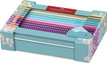 FABER-CASTELL színes ceruza készlet 20 db SPARKLE grip 2001 ceruza + hegyező