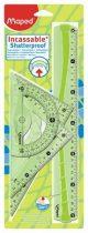 MAPED Flex hajlítható műanyag vonalzó készlet, 4 db-os, nagy