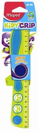 MAPED Kidy Grip gumírozott, műanyag vonalzó 20 cm