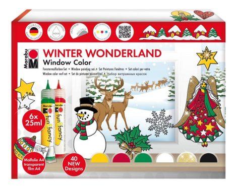 MARABU Fun&Fancy karácsonyi üvegmatrica készlet 6x25 ml
